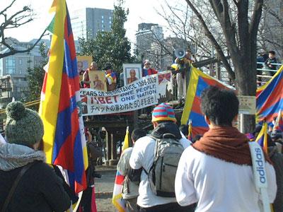 チベットの自由を求めるピースウォーク