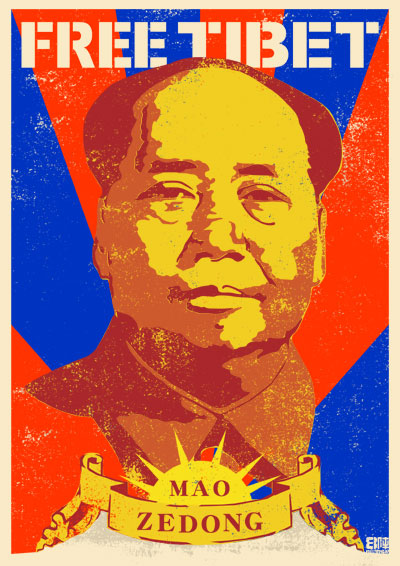 FREE TIBET MAO ZEDONG フリーチベット毛沢東